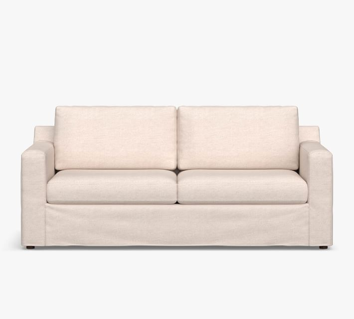 Shasta Square Arm Slipcovered Sofa Collection Pottery Barn