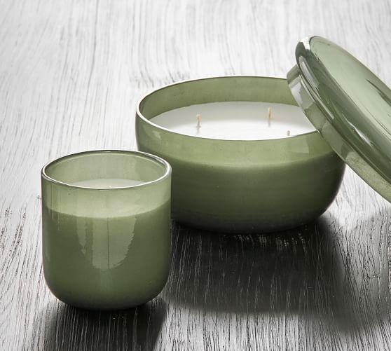 Modern Glass Candle - White Cedar & Tonka Bean