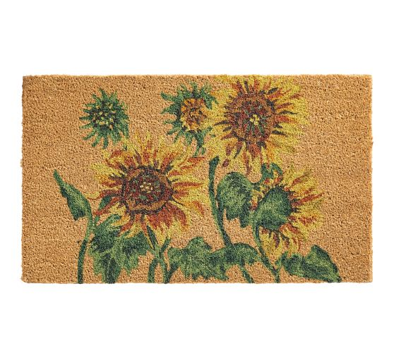Painted Sunflower Doormat Pottery Barn