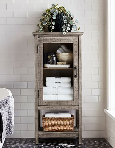 Bathroom Storage Organization Cabinets Pottery Barn