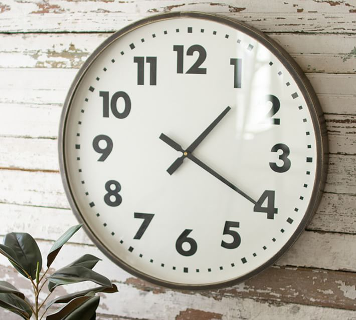 Tessa Round Wall Clock 24 W Pottery Barn