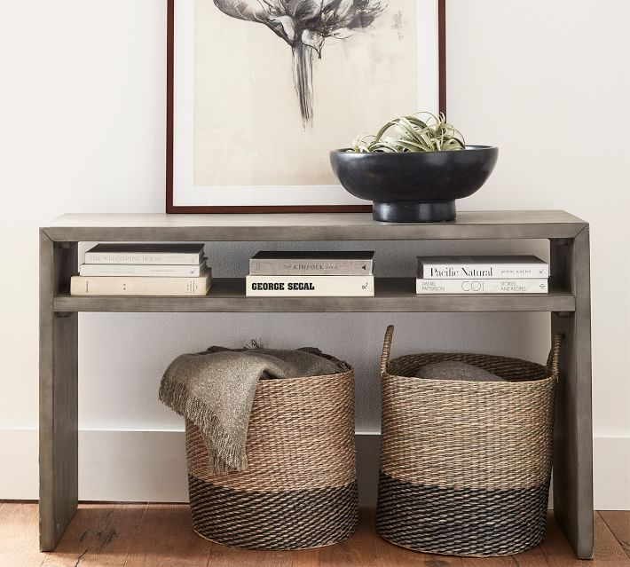 Byron 50 Waterfall Console Table Pottery Barn