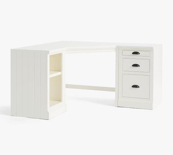 Aubrey Corner Desk With Bookcase File Cabinet Pottery Barn