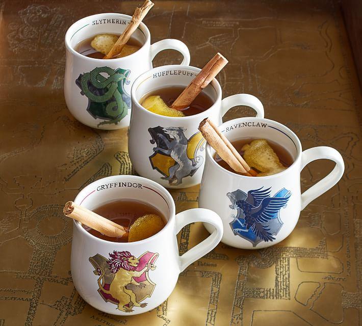 Harry Potter Hogwarts Houses Stoneware Mugs Pottery Barn