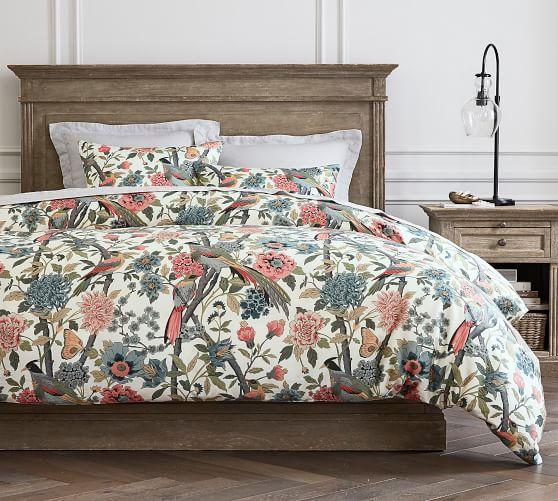 Bloom Fl Print Cotton Patterned, Pottery Barn Discontinued Bedding