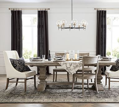 Perfect Pair Banks Extending Dining Table Bradford Milan Chair Pottery Barn