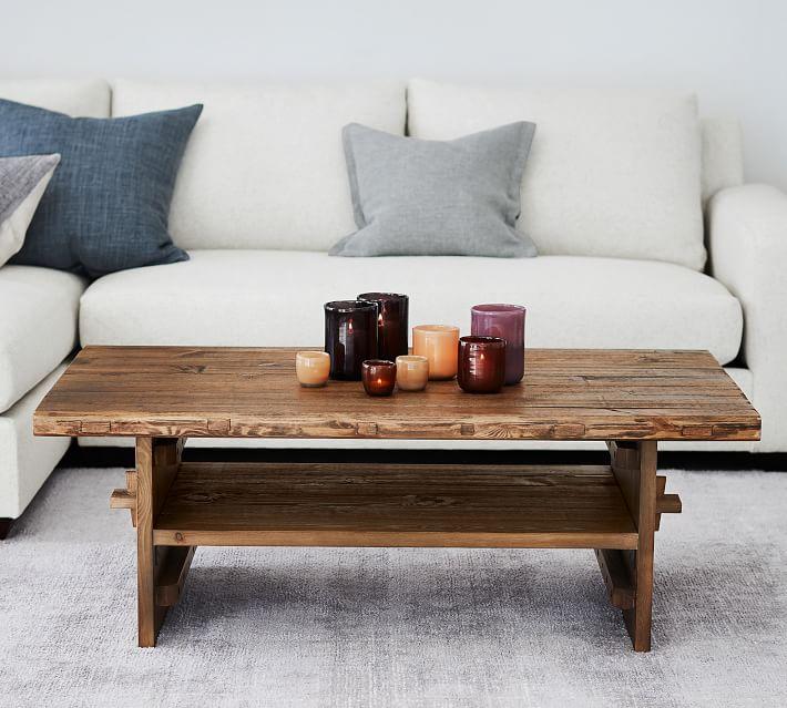 Reclaimed Wood Coffee Table Pottery Barn Barkeaterlake Com