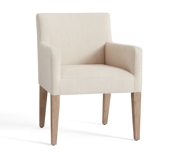 Classic Upholstered Dining Chair Armchair Pottery Barn
