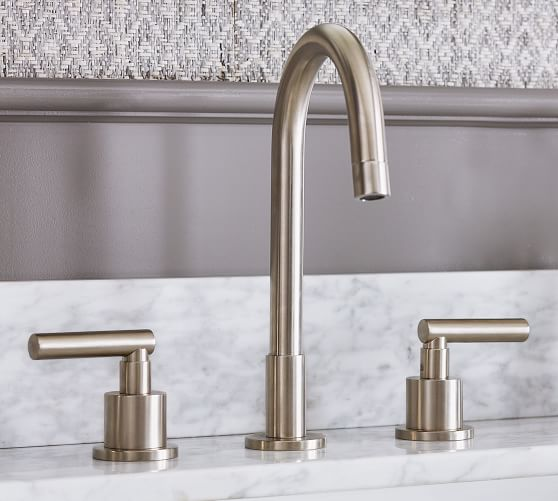 Linden Lever Handle Widespread Bathroom Faucet Pottery Barn
