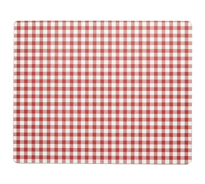 Gingham Cork Mat, Set of 4 - Red