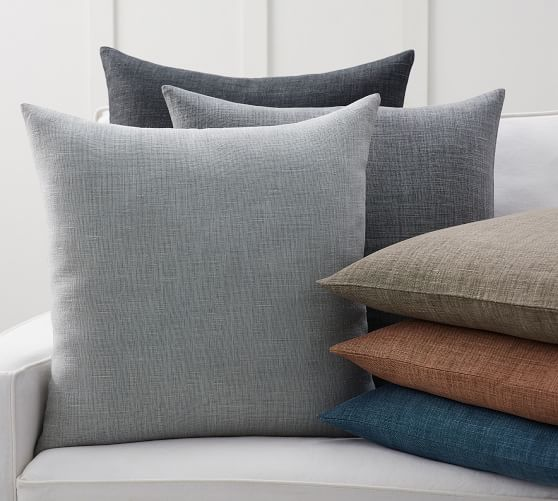 Made to Order for Custom Size Linen Pillow Case in White Color Softened,Washed