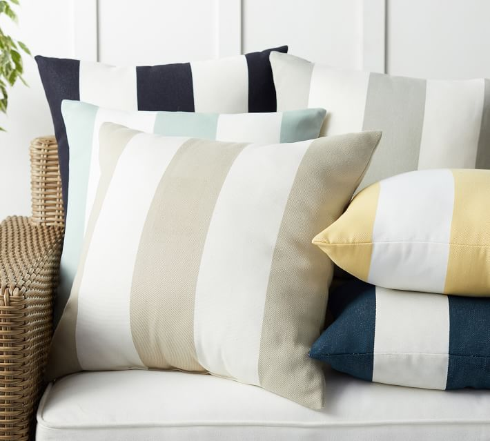 Classic Striped Indoor Outdoor Pillows Pottery Barn