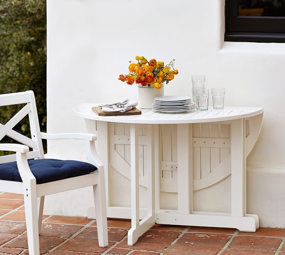 Hampstead Painted Round Drop Leaf 48 Dining Table White Pottery Barn