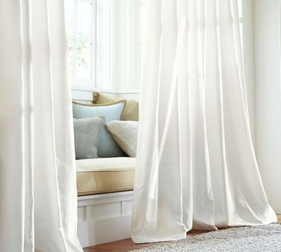 Dupioni Silk Rod Pocket Curtain