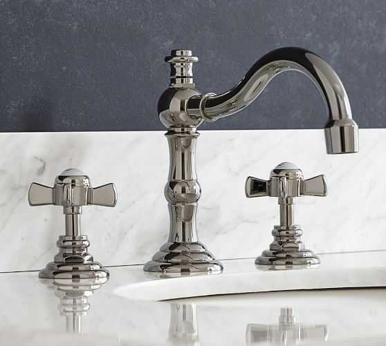 Mercer Cross Handle Widespread Bathroom Faucet Pottery Barn