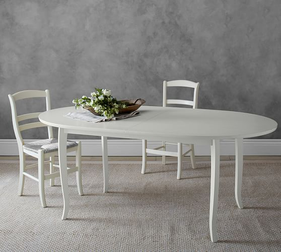 Pottery Barn White Kitchen Table Off 54, White Oval Dining Room Table