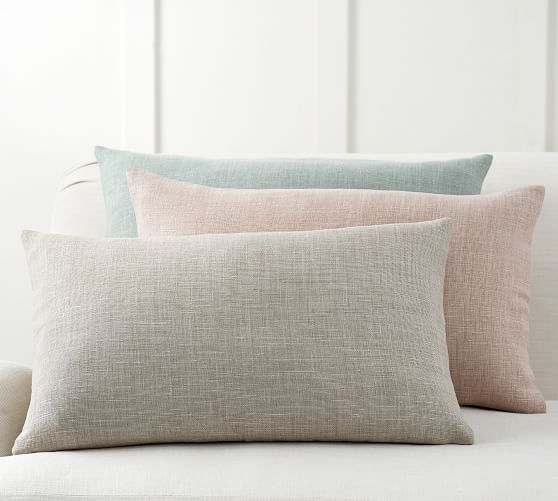 Belgian Linen Lumbar Pillow Cover Pottery Barn