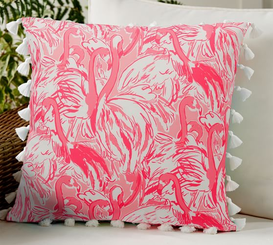 Ready to Ship Searchin Urchin Outdoor Lily Pulitzer Pillow Cover in Pink