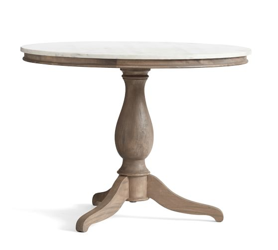 Alexandra Round Marble Pedestal Dining Table Pottery Barn