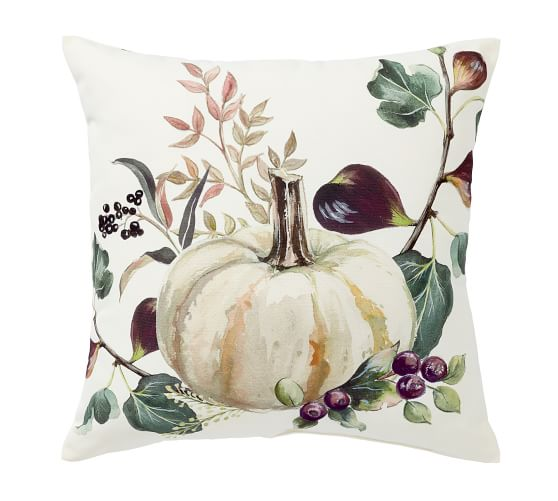 Fall Pumpkin Indoor Outdoor Pillow Pottery Barn