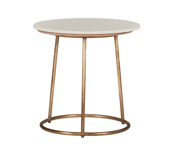 Blair 24 Round Marble End Table Pottery Barn