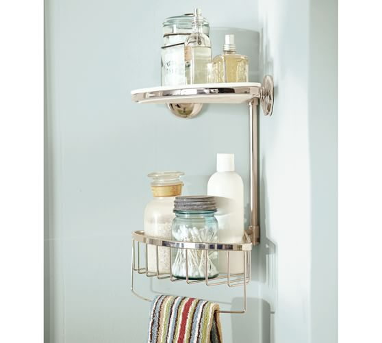 Double Corner Shower Caddy Pottery Barn