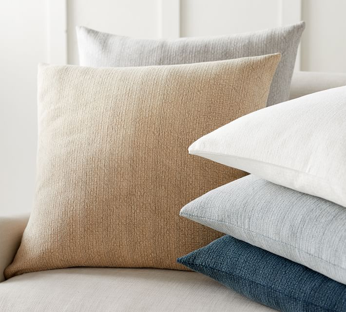 Stonewashed Cotton Pillow Cover Pottery Barn