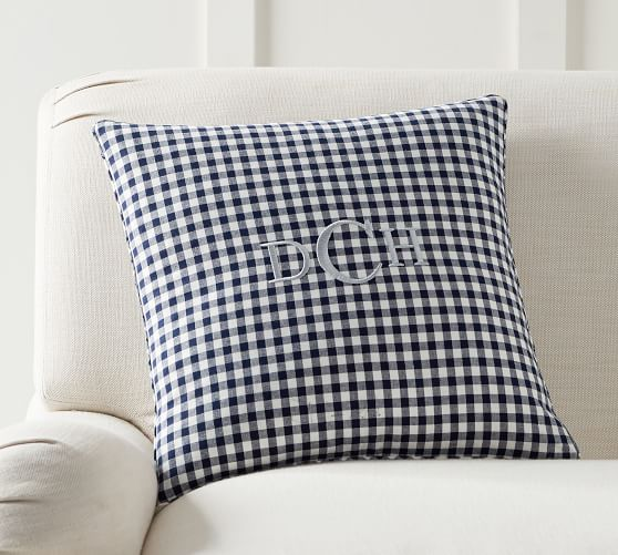 Piped Gingham Decorative Pillow Cover Pottery Barn