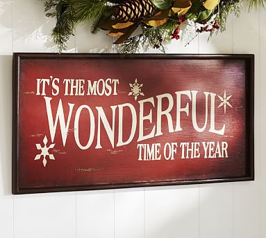 Wonderful Sign Red Wall Decor Pottery Barn