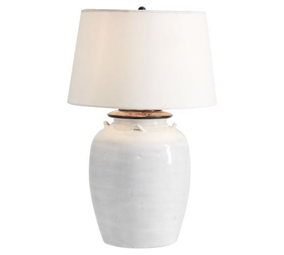 Courtney Ceramic Table Lamp Ivory, Ivory Ceramic Table Lamps