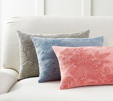 Joss Embroidered Lumbar Pillow Cover Pottery Barn