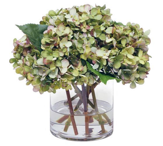 Hydrangea Flower Recycled Glass Pendant.