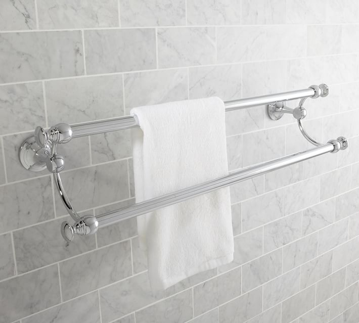Mercer Double Towel Bar Pottery Barn