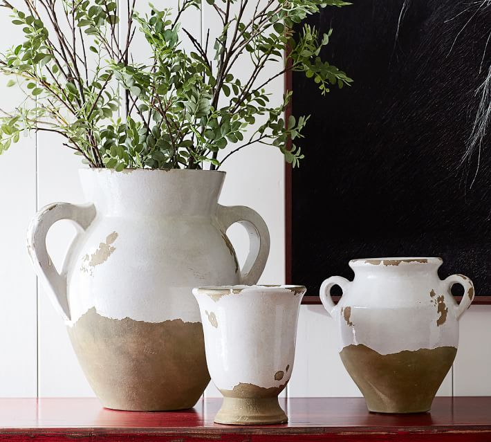 Tuscan Handcrafted Terra Cotta Vases