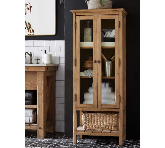 Rustic Wood Linen Closet Pottery Barn