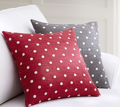 Polka Dot Decorative Pillow Cover Pottery Barn