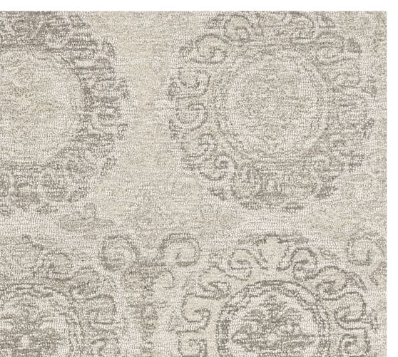 Gray Kendyl Tufted Rug Patterned Rugs Pottery Barn