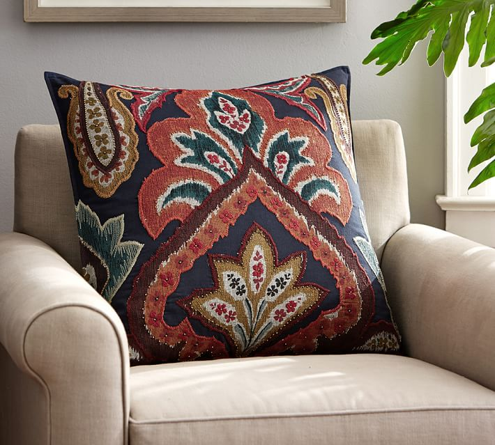 Houston Ikat Decorative Pillow Cover Pottery Barn