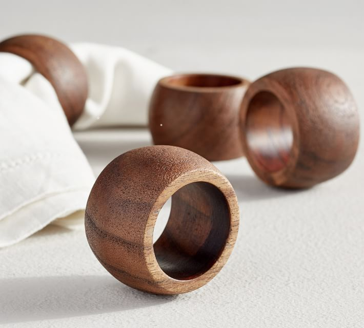 Chateau Wooden Napkin Ring Pottery Barn