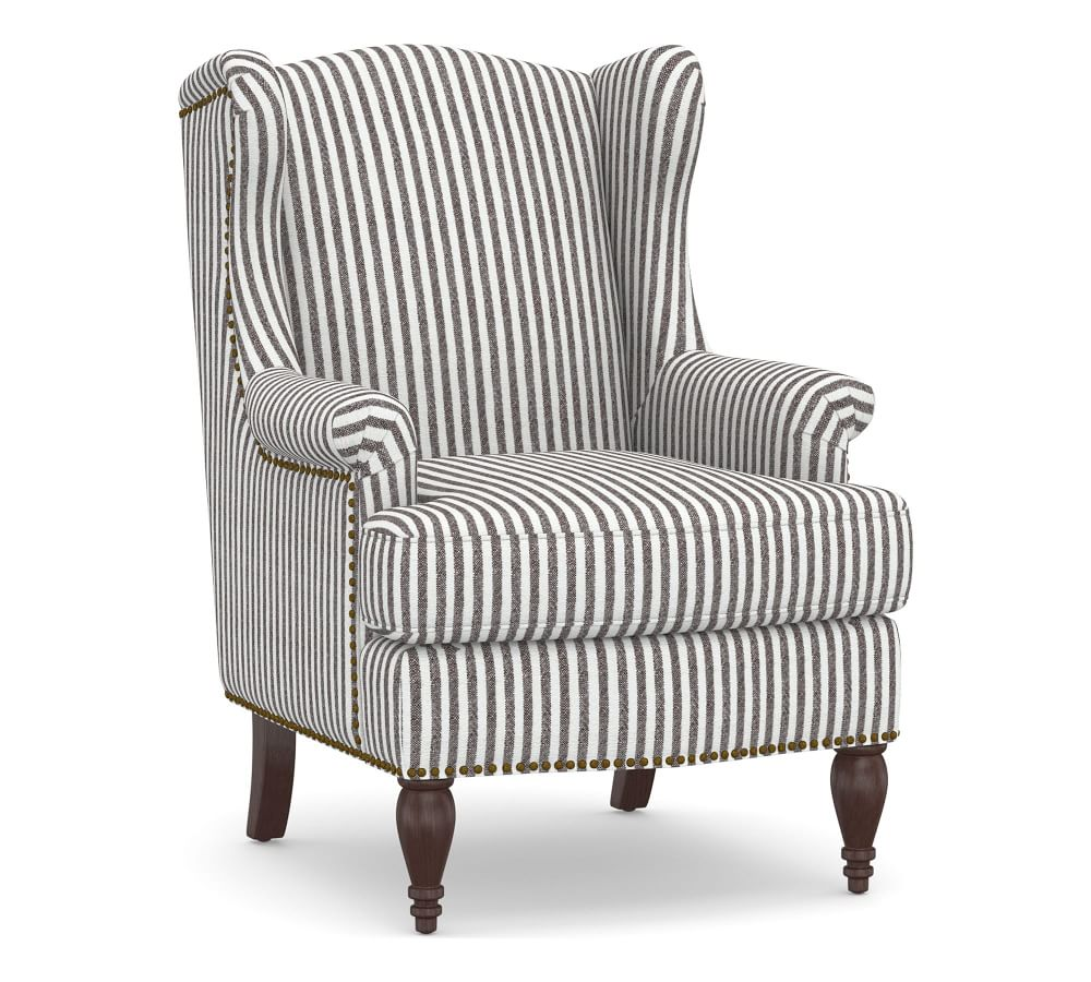 Delancey Petite Upholstered Wingback Armchair