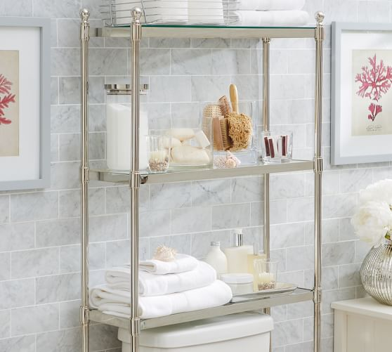 Metal Over The Toilet Storage Pottery Barn