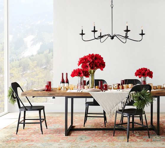 Malcolm Extending Dining Table Pottery Barn
