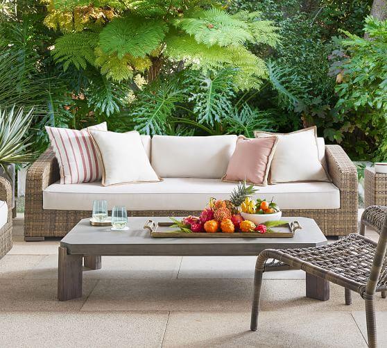 Havana All Weather Wicker Outdoor Sofa, Pottery Barn Rattan Furniture