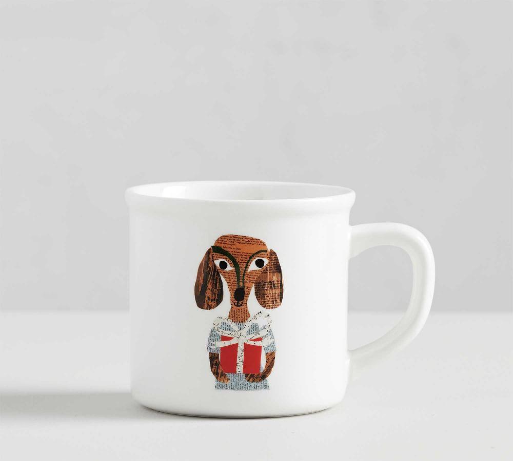 Details about  /Pottery Barn Whimsical Mug Set//4 Denise Fiedler Owl Fox Cat Dog 15 oz NEW