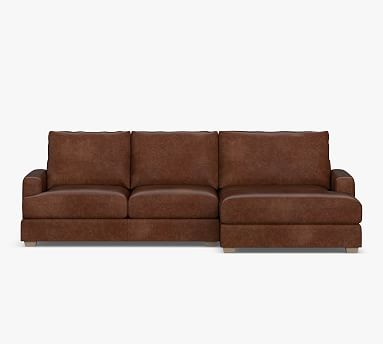 Canyon Square Arm Leather Sofa Double, Double Leather Sofa Bed