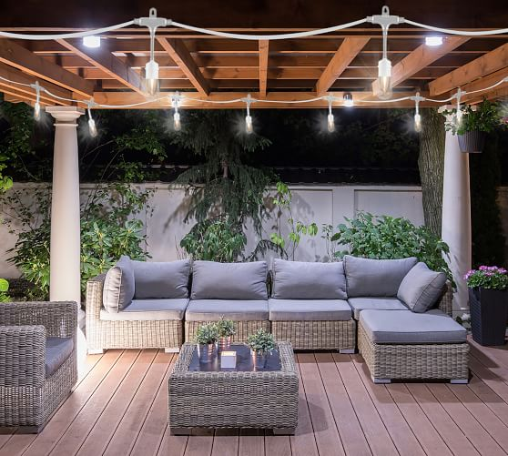 Indoor Outdoor String Lights White, String Lights Outdoor Patio