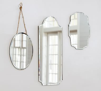 Eleanor Frameless Wall Mirrors, How To Hang A Unframed Mirror