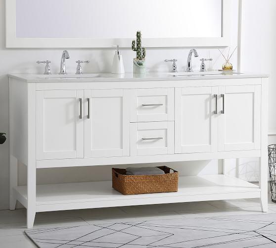 Belleair 60 Double Sink Vanity, Double Bathroom Sink