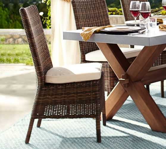 All Weather Wicker Dining Chair, Wicker Dining Room Chairs Indoor