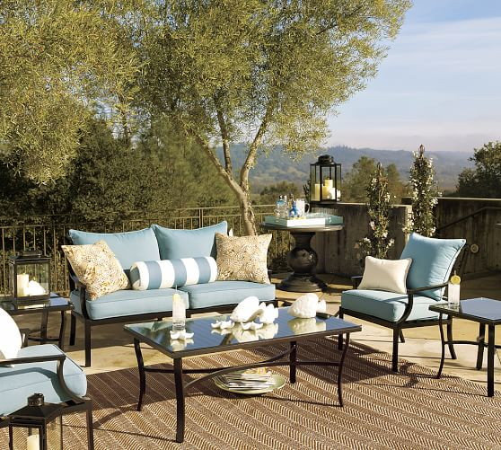 Riviera 26 5 Metal Lounge Chair, Pottery Barn Outdoor Furniture Showroom